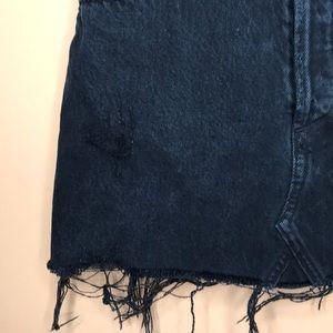 Agolde Skirts - AGOLDE   Quinn High Rise Mini Skirt Black Rock 24